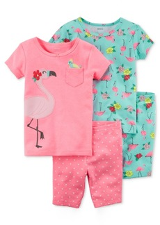Carter's 4-Pc. Flamingos Cotton Pajama Set, Toddler Girls