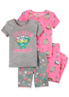 Carter's 4-Pc. Ice Cream Cotton Pajama Set, Toddler Girls