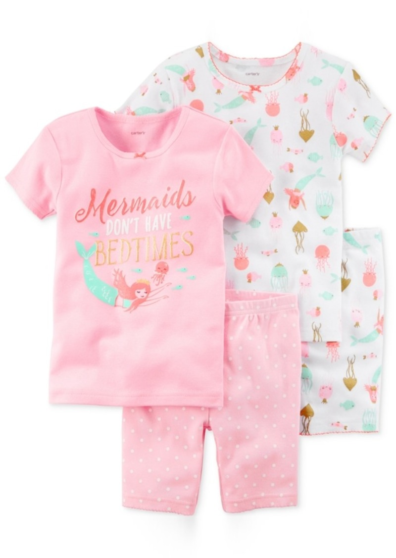 fa6b69eaf5ed Carter s Carter s 4-Pc. Mermaids Cotton Pajama Set