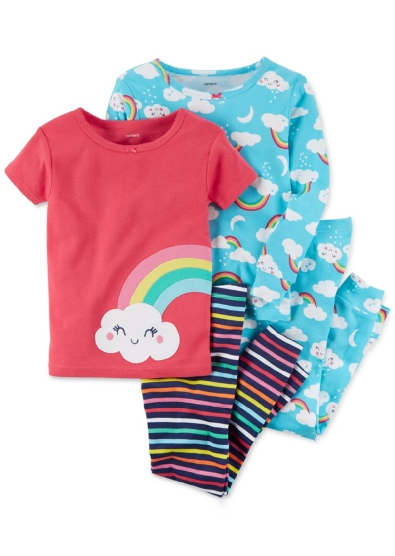70c3a6cf9 Carter s Carter s 4-Pc. Rainbow-Print Cotton Pajama Set