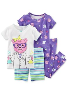 Carter's 4-Pc. Scientist Bear Cotton Pajama Set, Toddler Girls