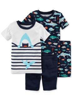 Carter's 4-Pc. Shark-Print Cotton Pajama Set, Baby Boys