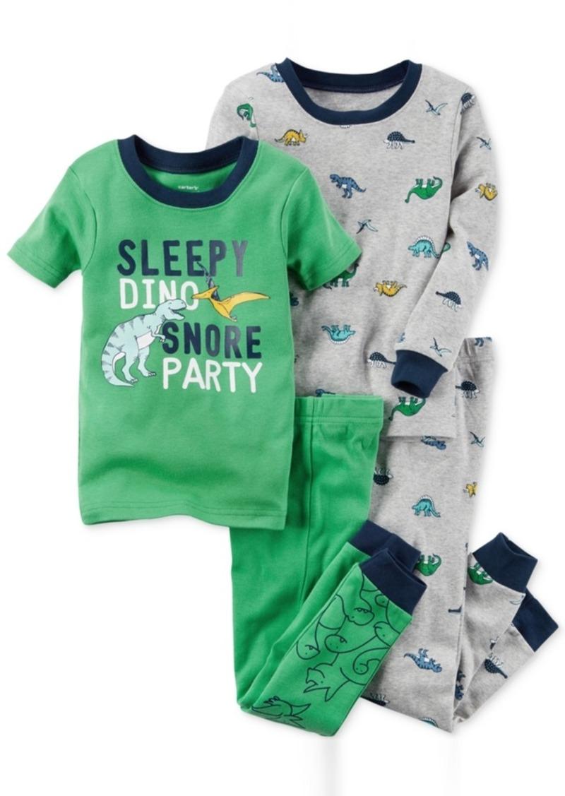 b211c3a45 SALE! Carter s Carter s 4-Pc. Sleepy Dino Cotton Pajama Set