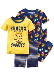 Carter's 4-Pc. Snacks Before Snoozies Cotton Pajama Set, Little Boys & Big Boys