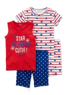 Carter's 4-Pc. Star Spangled Cutie Cotton Pajama Set, Little Girls & Big Girls
