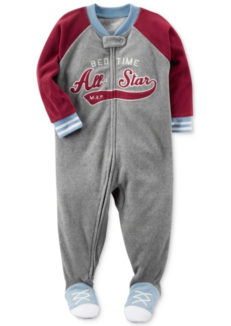 27bf436b5 Carter's Carter's All-Star Footed Pajamas, Baby Boys (0-24 months ...