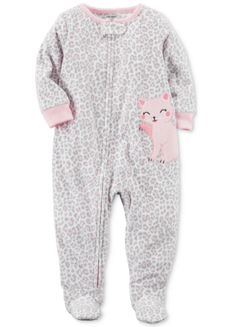 ec0c52f736b1 Carter s Carter s Animal-Print Cat Footed Pajamas
