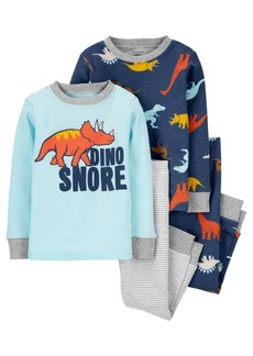 Carter's Carters Baby Boy 4-Piece Dino Snore 100% Snug Fit Cotton PJs