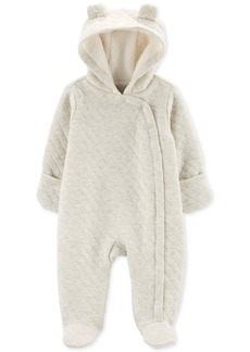 Carter's Baby Boys & Girls Faux-Fur-Lined Hooded Quilted Bunting