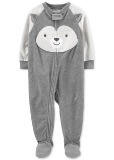 Carter's Baby Boys 1-Pc. Animal-Face Fleece Footed Pajamas