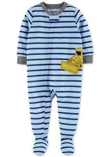 Carter's Baby Boys 1-Pc. Bulldozer Footie Pajama