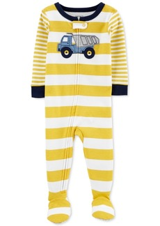 Carter's Baby Boys 1-Pc. Cotton Striped Dump Truck Footie Pajama