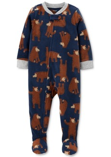 Carter's Baby Boys 1-Pc. Footed Fleece Bear Pajama