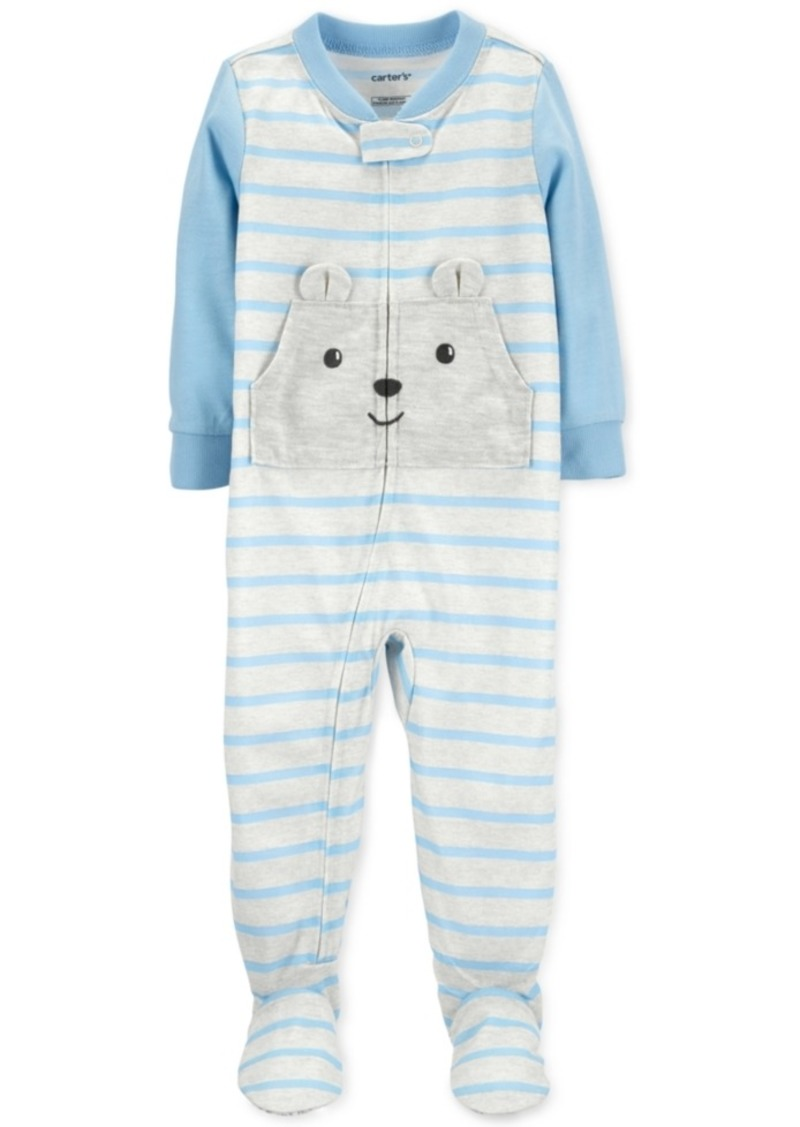 Carter's Baby Boys 1-Pc. Footed Striped Bear Pajama