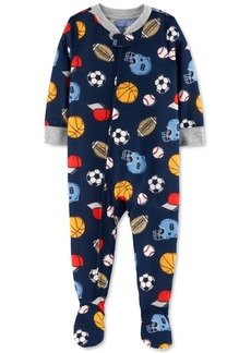 Carter's Baby Boys 1-Pc. Sports-Print Footie Pajama