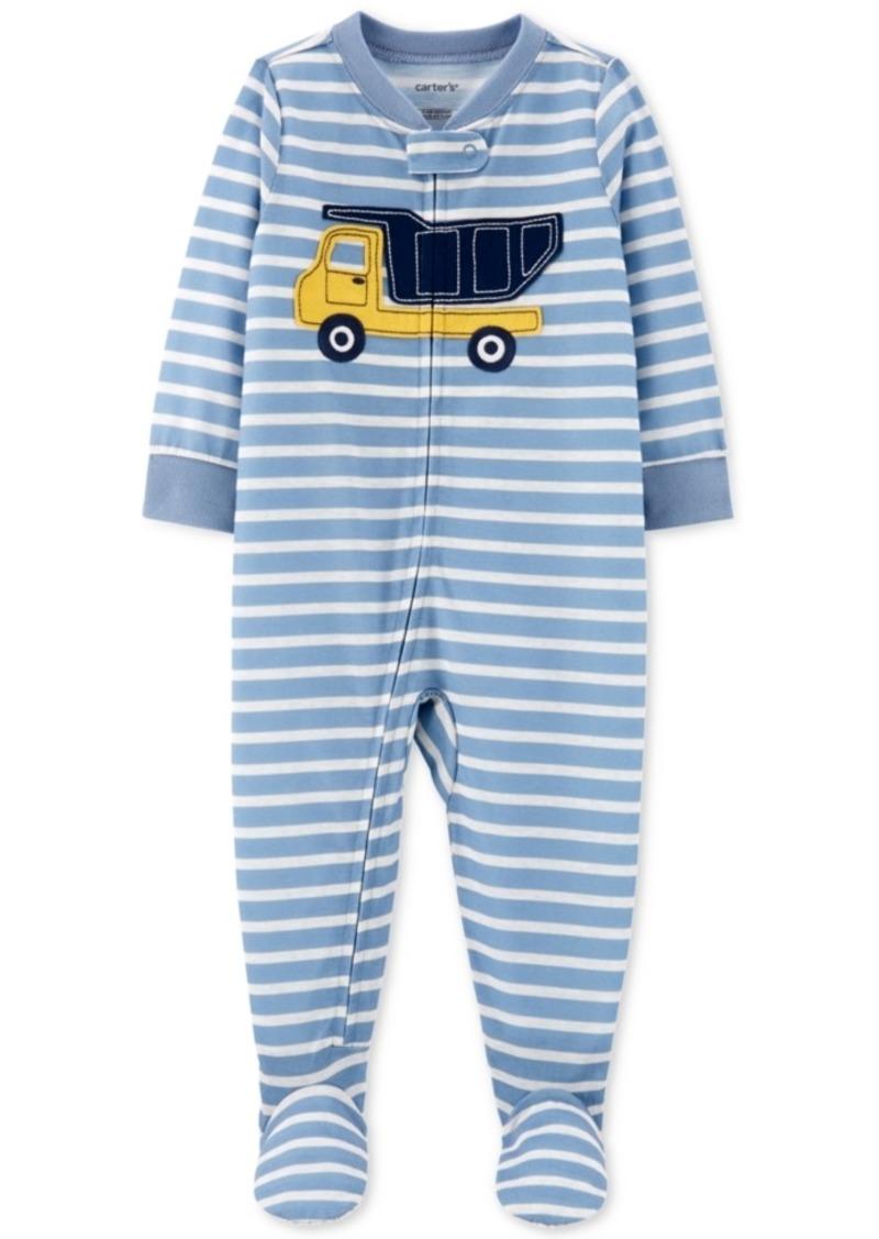 Carter's Baby Boys 1-Pc. Striped Construction Pajama