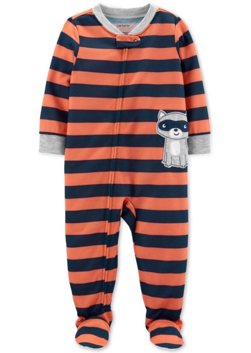 Carter's Baby Boys 1-Pc. Striped Racoon Pajama