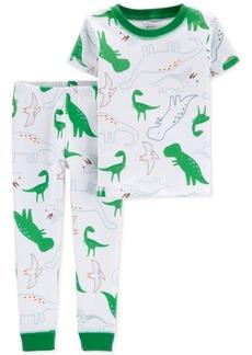 Carter's Baby Boys 2-Pc. Cotton Dinosaur Pajamas