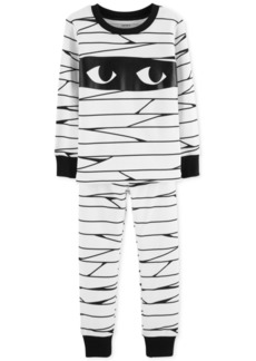 Carter's Baby Boys 2-Pc. Mummy Glow In The Dark Pajamas Set