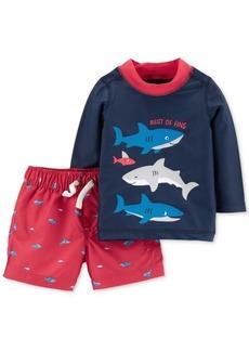 Carter's Baby Boys 2-Pc. Shark Rash Guard Swim Set