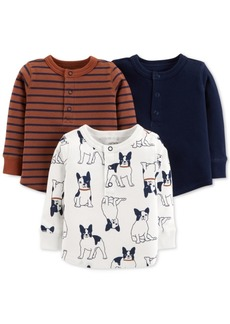 Carter's Baby Boys 3-Pack Printed Shirts