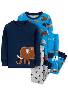 Carter's Baby Boys 4-Pc. Cotton Animals Pajamas Set