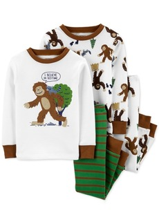 Carter's Baby Boys 4-Pc. Cotton Bigfoot Pajamas Set