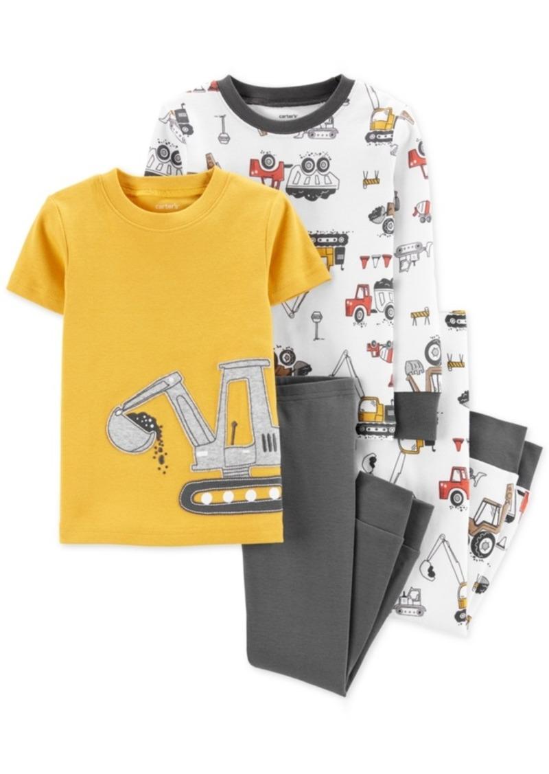 Carter's Baby Boys 4-Pc. Cotton Construction Pajama Set