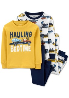 Carter's Baby Boys 4-Pc. Cotton Hauling Bedtime Pajamas Set