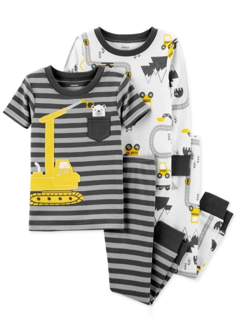 e7e55a2167d2 Carter s Carter s Baby Boys 4-Pc. Cotton Snug-Fit Construction ...