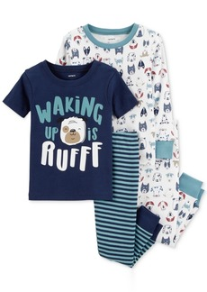 Carter's Baby Boys 4-Pc. Dog-Print Cotton Pajama Set