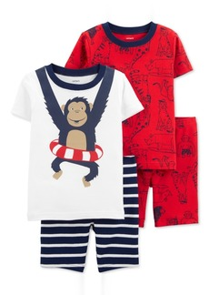 Carter's Baby Boys 4-Pc. Monkey Cotton Pajamas Set