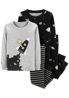 Carter's Baby Boys 4-Pc. Outer Space Cotton Pajamas Set