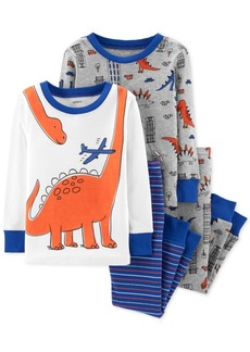 Carter's Baby Boys 4-Pc. Snug-Fit Cotton Dinosaur Pajamas Set