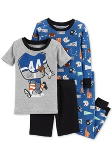 Carter's Baby Boys 4-Pc. Sports-Print Cotton Pajama Set