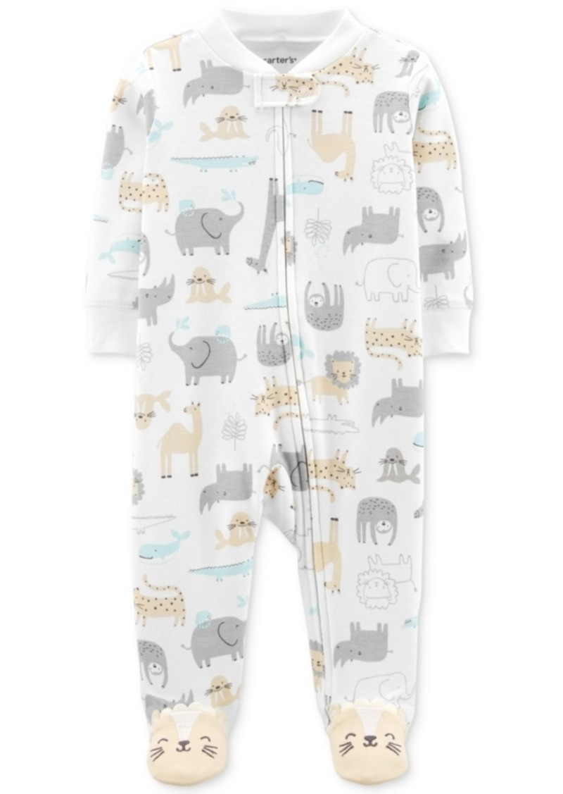 Carter's Baby Boys Animal-Print Footed Cotton Coverall