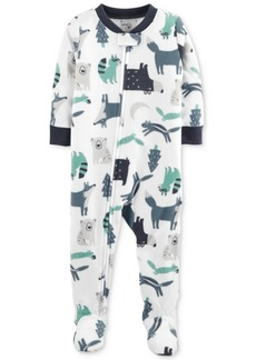 Carter's Baby Boys Animal-Print Footed Pajamas