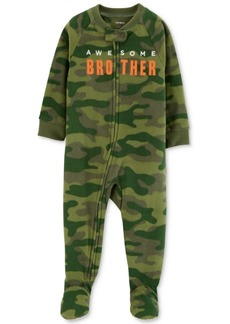 Carter's Baby Boys Brother Camo Footed Fleece Pajamas