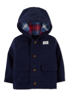 Carter's Baby Boys Button-Front Hooded Jacket
