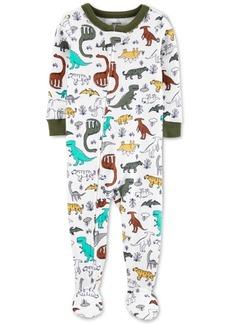 Carter's Baby Boys Cotton Footed Dinosaur Pajamas