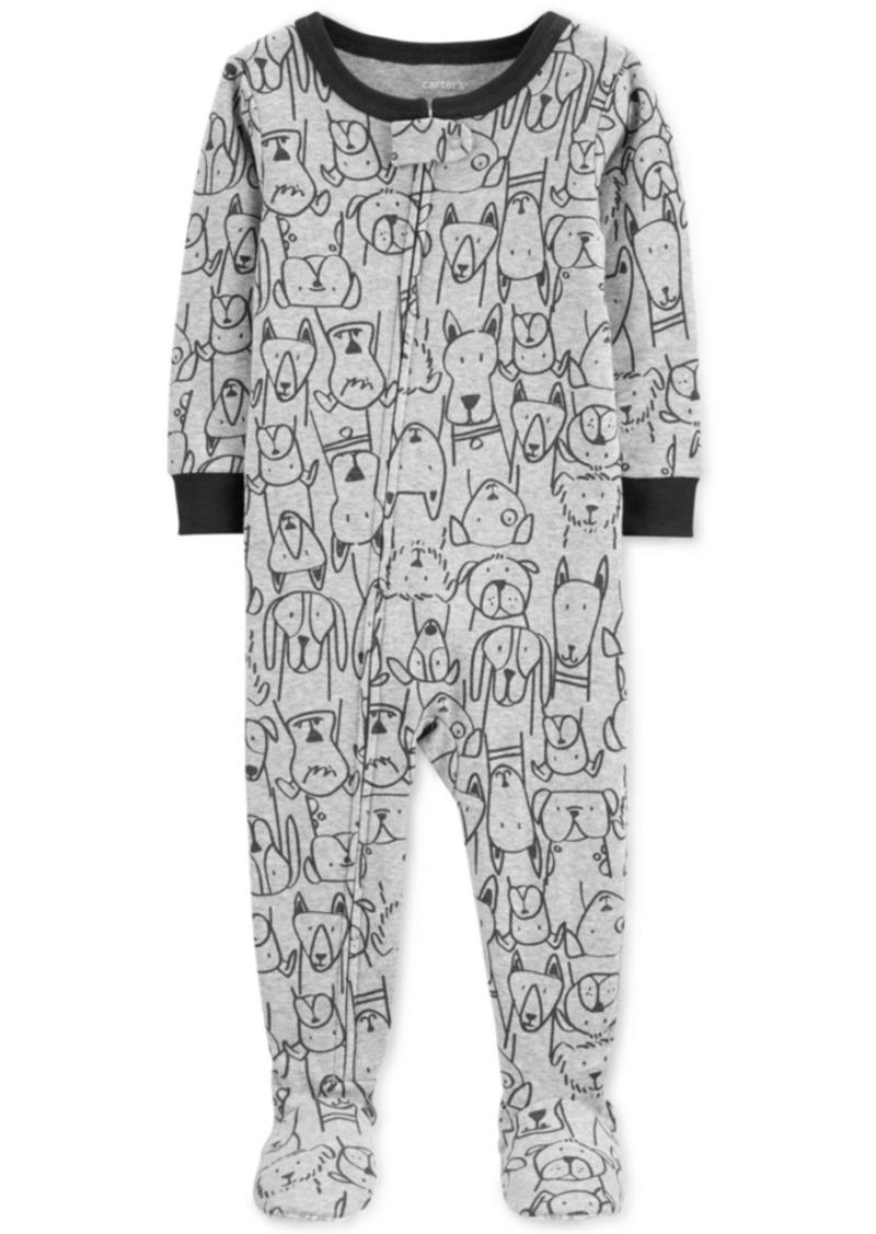 Carter's Baby Boys Cotton Footed Dog Pajamas