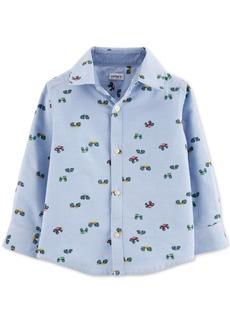 Carter's Baby Boys Cotton Monster Truck Oxford Button-Up Shirt