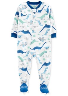Carter's Baby Boys Dinosaur-Print Fleece Footed Pajamas