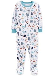 Carter's Baby Boys Dog-Print Cotton Footed Pajamas