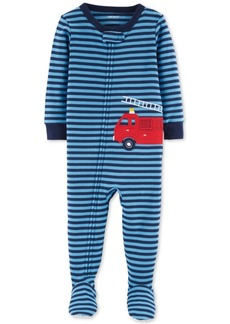 Carter's Baby Boys Fire Truck Footed Cotton Pajamas