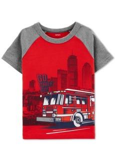 Carter's Baby Boys Firetruck-Print Cotton T-Shirt