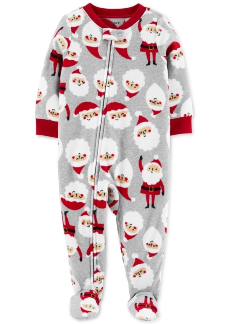 Carter's Baby Boys Footed Fleece Santa Baby Pajamas