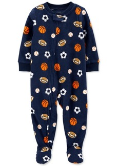 Carter's Baby Boys Footed Fleece Sports Pajamas