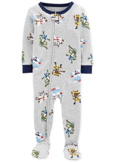 Carter's Baby Boys Footed Printed Pajamas