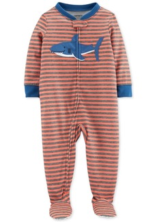 Carter's Baby Boys Footed Shark Pajamas
